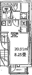(仮称)成増新築アパート[3階]の間取り