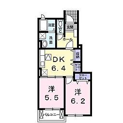 エテルナ K[1階]の間取り