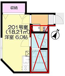 千葉県千葉市中央区末広2丁目の賃貸アパートの間取り