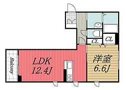 JR内房線 姉ヶ崎駅 徒歩7分の賃貸マンション 1階1LDKの間取り