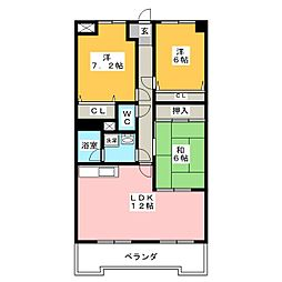 オーキッドマンション星崎[5階]の間取り