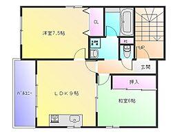 プチシャトー山本[3階]の間取り