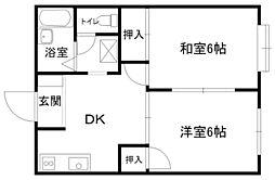 メゾンOKAZAKI _[203号室]の間取り