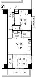 カサベラ新在家ツインズII号館 7階2DKの間取り