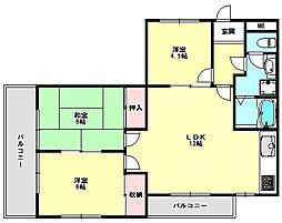 兵庫県神戸市垂水区霞ケ丘4丁目の賃貸マンションの間取り