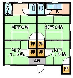広島県呉市三条4丁目の賃貸アパートの間取り