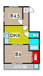 メゾン小泉南浦和第1[4階]の間取り