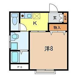 埼玉県さいたま市北区日進町3-の賃貸マンションの間取り