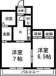 クレッセントハウス和合[3階]の間取り