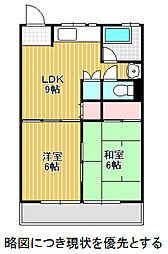 愛知県名古屋市千種区鹿子町5丁目の賃貸マンションの間取り