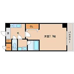 JR東海道・山陽本線 立花駅 徒歩3分の賃貸マンション 5階1Kの間取り