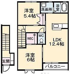 ベルデA棟[2階]の間取り