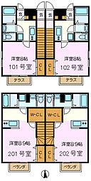 メゾン寺前[101号室]の間取り