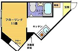 ヴェール横浜[1階]の間取り