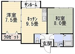 ファミーユ7[102号室号室]の間取り