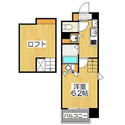 プレサンス京都修学院[410号室]の間取り
