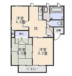 ライヴリタウン[2階]の間取り