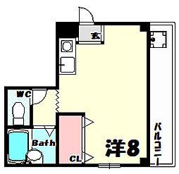 ロイヤルヒル[3階]の間取り