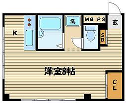 東京都府中市幸町1の賃貸マンションの間取り