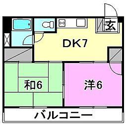 カーサ藤[503 号室号室]の間取り