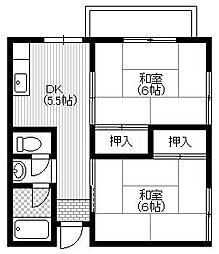 谷村マンション[1階]の間取り