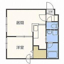 ソレイル5.5[2階]の間取り
