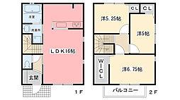 [タウンハウス] 兵庫県西宮市高木西町 の賃貸【兵庫県 / 西宮市】の間取り