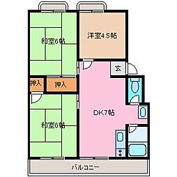 岡津マンション[1-305号室]の間取り