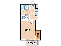 グリーンフルK[2階]の間取り
