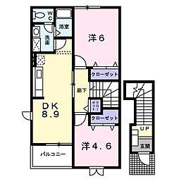 エルマーレ御所野[2階]の間取り