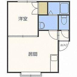 ラ・パリオ東麻生[3階]の間取り