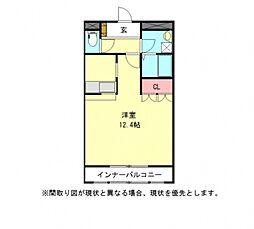 愛知県一宮市浅野字野口の賃貸アパートの間取り