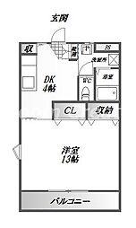 モワジュール[2階]の間取り