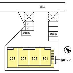 キャッスル北沢金沢[205号室]の外観