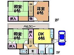 [一戸建] 愛媛県松山市東野4丁目 の賃貸【/】の間取り