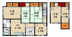 [一戸建] 大阪府東大阪市荒本2丁目 の賃貸【/】の間取り