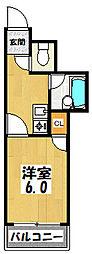 大阪府大阪市城東区諏訪3丁目の賃貸マンションの間取り