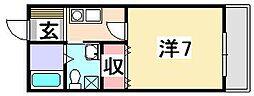 TNマンション[2階]の間取り