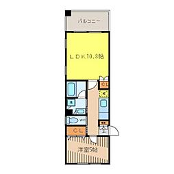 M-Style ラピスラズリ[301号室]の間取り