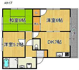 リッチネス阪南A・B・C・D棟[2階]の間取り