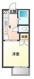 コーポタカハナ[2階]の間取り