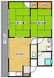 林アパートI[111号室号室]の間取り