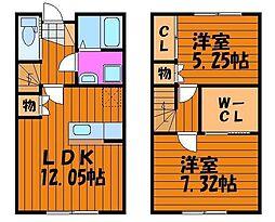[タウンハウス] 岡山県岡山市北区楢津 の賃貸【/】の間取り
