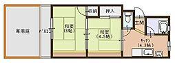 コウヅハイツ[103号室]の間取り