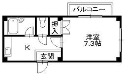 MAXI 〜家電付きのお部屋です〜[102号室]の間取り