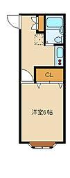 ベルハウスムラタ[2階]の間取り