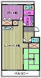 松沢マンション[3階]の間取り