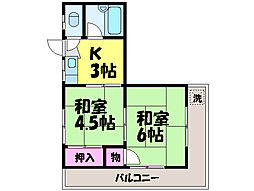 べべハイツ[2階]の間取り