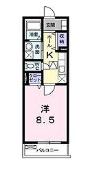 埼玉県新座市北野2丁目の賃貸アパートの間取り
