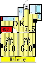 東京都足立区保木間4丁目の賃貸マンションの間取り